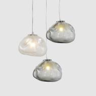 LED Texture Glass Pendant Light irregularity Lampshade Modern Style