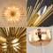 LED Gold Dandelion Pendant Light Modern Style from Singapore best online lighting shop horizon lights detail