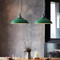 LED Green Loft Pendant Light Industrial Style from Singapore best online lighting shop horizon lights dining room