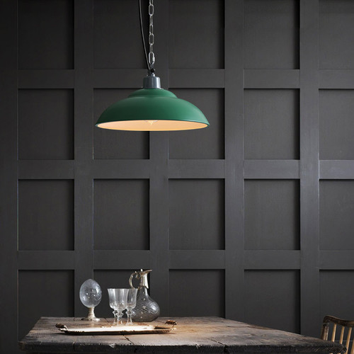 LED Green Loft Pendant Light Industrial Style from Singapore best online lighting shop horizon lights