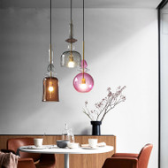 LED Elegant Pendant Light Glass Shade 5 Versions Modern Style from Singapore best online lighting shop horizon lights