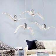 LED Seagulls Flying Pendant Light Resin Shade Modern Style from Singapore best online lighting shop horizon lights