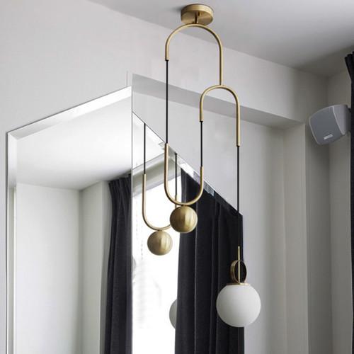 LED Pendant Light for Dining Room Restaurant Light Simple Bedroom Hanging lamp Glass Ball LED Lamps Fixtures bedroom