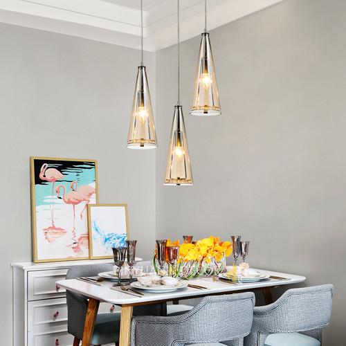 3PCS LED Crystal Pendant Light for Dining room Restaurant Modern Style from Singapore best online lighting shop horizon lights