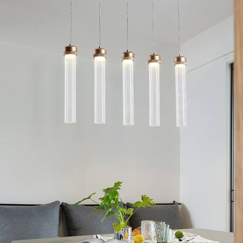 Modern Hanging Light Tube Glass shade Living Room Bar Kitchen Lighting from Singapore best online lighting shop horizon lights