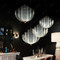 LED Chandelier Light Fishing Net Creative Alloy Lampshade Modern Home Decor dining room