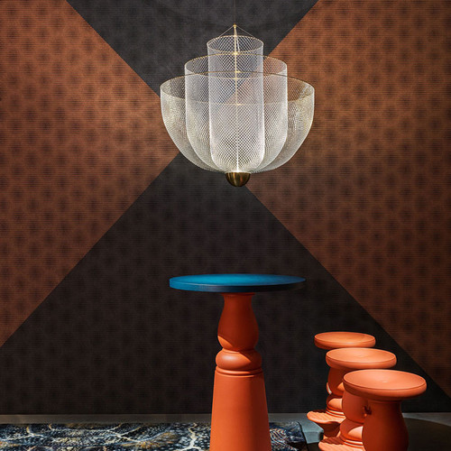 LED Chandelier Light Fishing Net Creative Alloy Lampshade Modern Home Decor