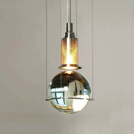 LED Pendant Light Crystal Ball Metal Lampshade Creative Design Home Decor