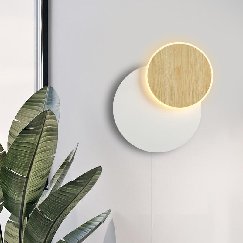 the latest 2471e 9d9b2 LED Wall Light Rotatable Metal Shade Bedroom Acrylic Living Room Nordic  Wall Light