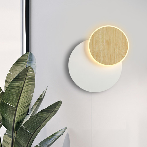 LED Wall Light Rotatable Metal Shade Bedroom Acrylic Living Room Nordic Wall Light