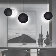 LED Moon Pendant Light Adjustable Glass Shade Modern Style Bedroom Dining room Decor