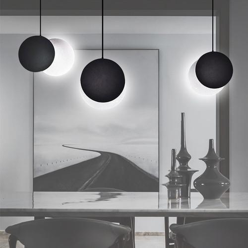 LED Moon Pendant Light Adjustable Glass Shade Modern Style Bedroom Dining room Decor art
