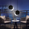 LED Moon Pendant Light Adjustable Glass Shade Modern Style Bedroom Dining room Decor