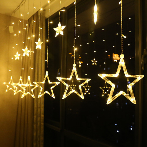 LED Christmas Light Fairy Star String Lights For Holiday Wedding Garland Party Decoration 2.5m