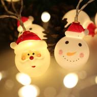 Santa Claus Village Celebration LED String Fairy Lights (santa and snowman)