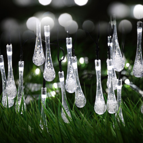 Frozen Icicles from Winter Wonderland string LED Fairy Lights for Festival Decorations, Christmas, Halloween (white)