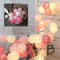 Rainbow Cotton Ball string LED Fairy Lights as Christmas ornaments (style c)