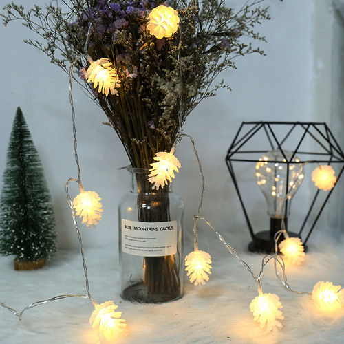 LED String Lights Warm White Pine Cone Christmas Tree Holiday Decoration Lighting Indoor  Fairy Lights from Singapore best online lighting shop horizon lights
