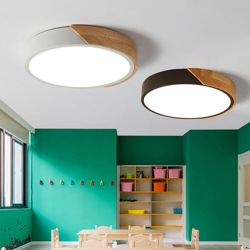 Ceiling Light LED Chips Unique Acrylic Wooden Shade Modern Style from Singapore best online lighting shop horizon lights