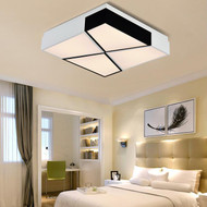 Modern Style LED Ceiling Light Geometric Acrylic Shade Simple Corrider Bedroom Decor from Singapore best online lighting shop horizon lights