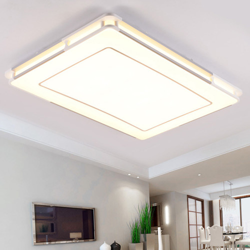 LED Ceiling Light Double Square Line Design Metal Acrylic Plate for Home Decor from Singapore best online lighting shop horizon lights