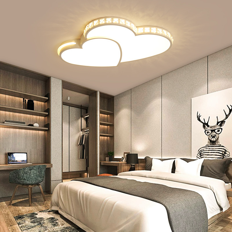 Heart Shape Modern LED Ceiling Lights For Bedroom Study