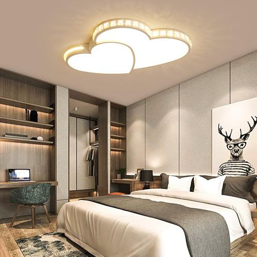 Heart Shape Modern LED Ceiling Lights for Bedroom Study Room Children Room Home Decor from Singapore best online lighting shop horizon lights