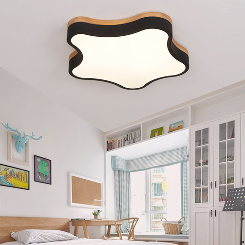 LED Ceiling Light Creative Nordic Macaron Star Shaped Oak Shade Kindergarten Children's room Bedroom  from Singapore best online lighting shop horizon lights