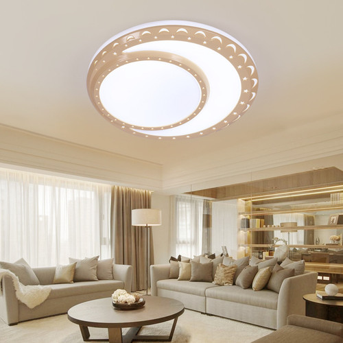 LED Round Moon Ceiling Light Creative Simple Design Bedroom Decor from Singapore best online lighting shop horizon lights
