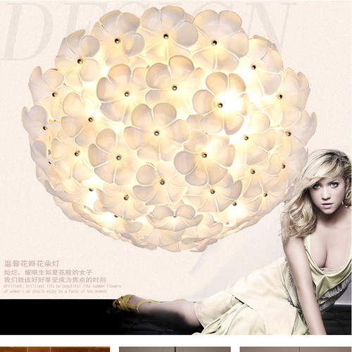 LED Ceiling Light Modern Glass Flower bedroom lamp wedding  living room  from Singapore best online lighting shop horizon lights