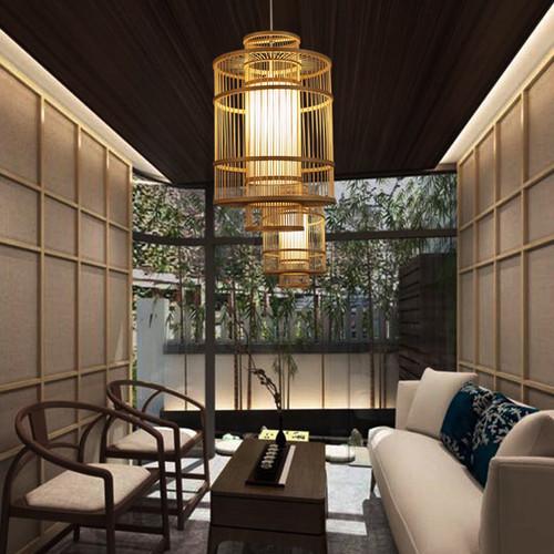 LED Hanging Light Bamboo Lantern Shaped Restaurants Shops Decor from Singapore best online lighting shop horizon lights