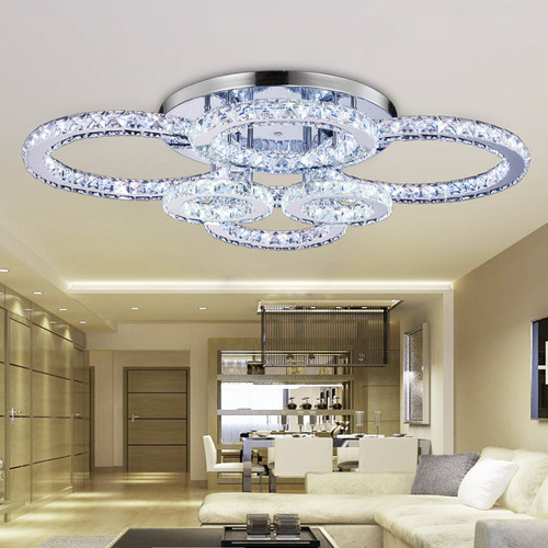 European Style LED Ceiling Light Stainless steel Crystal Flower Shape Home Decor from Singapore best online lighting shop horizon lights