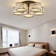 Modern Simple LED Ceiling Light Crystal Shade Living Room Light from Singapore best online lighting shop horizon lights