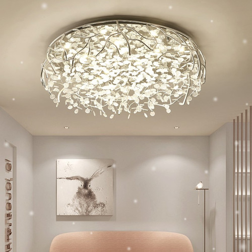 LED Ceiling Light Aluminum Frame Acrylic Chips Hanging inside Dimmable Control Home Decor from Singapore best online lighting shop horizon lights