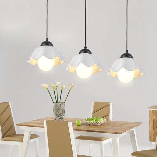 LED Pendant Light Flower Ceramic Shade Modern Simple Dining Room Lamp from Singapore best online lighting shop horizon lights