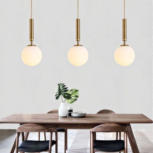 LED Pendant Light Glass Shade Aluminum Handle Restaurants Dining room from Singapore best online lighting shop horizon lights