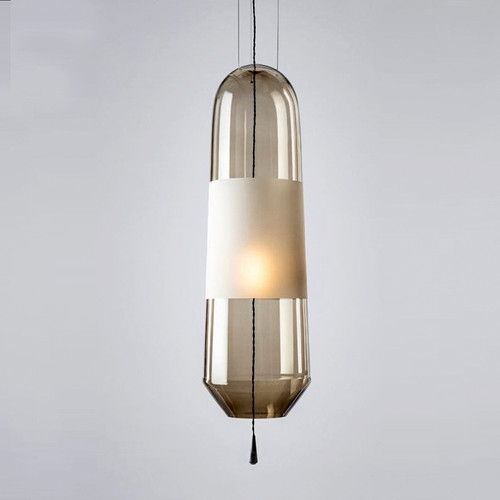 LED Pendant Light Long Glass Shade Modern Style Restaurants Living room Decor from Singapore best online lighting shop horizon lights