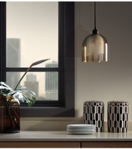 LED Pendant Light Double Glass Shade Delicate Ground Glass Dining Room Restaurants Lighting from Singapore best online lighting shop horizon lights