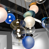 Color Bubbles , Metal Glass LED Pandent Light for Modern and Nordic
