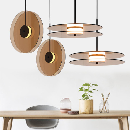 LED Pendant Light Creative Double Disc Shade Home Decor from Singapore best online lighting shop horizon lights