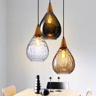 LED Glass Pendant Light Wood Hand 3 Colors Home Decor from Singapore best online lighting shop horizon lights