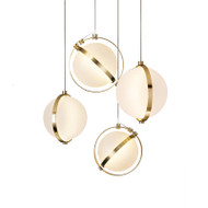 LED Pendant Light Sphere Milk Glass Shade Simple Glass Light Fashion from Singapore best online lighting shop horizon lights