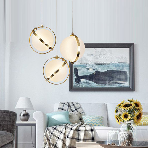 LED Pendant Light Sphere Milk Glass Shade Simple Glass Light Fashion from Singapore best online lighting shop horizon lights