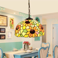 Tiffany Pastoral Style LED Pendant Light Glass Classics Dining Room Coffee Bar Decor from Singapore best online lighting shop horizon lights