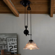 LED Pendant Light Pulley Set Adjustable Cable  Retro Industrial Lamp Restaurants Decor from Singapore best online lighting shop horizon lights