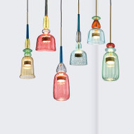LED Hanging Light Colorful Creative Shapes Glass Shade Nordic Style Multicolored  from Singapore best online lighting shop horizon lights
