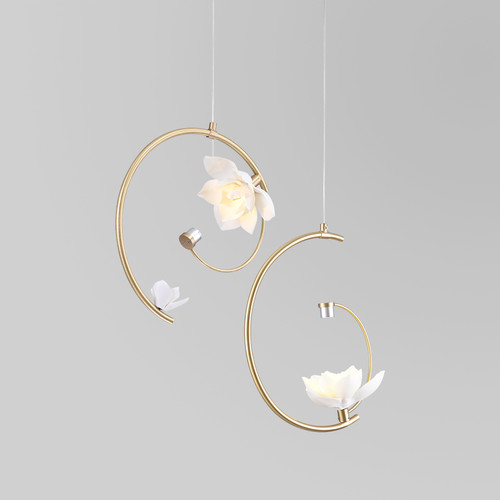 Ceramic Lotus LED Pendant Light Elegant Design Simple Home Decor from Singapore best online lighting shop horizon lights