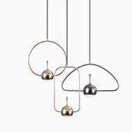 LED Pendant Light Spot Curved lines Creative Design Modern Style from Singapore best online lighting shop horizon lights