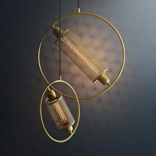 LED Pendant Light Metal Circle Wheel Shape Restaurants Dining room Decor from Singapore best online lighting shop horizon lights
