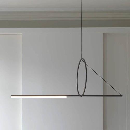 LED Pendant Light Strip Liner Design Post-modern Minimalism Art Light Decor from Singapore best online lighting shop horizon lights